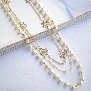 Multi Layer Beads / Chain Necklace